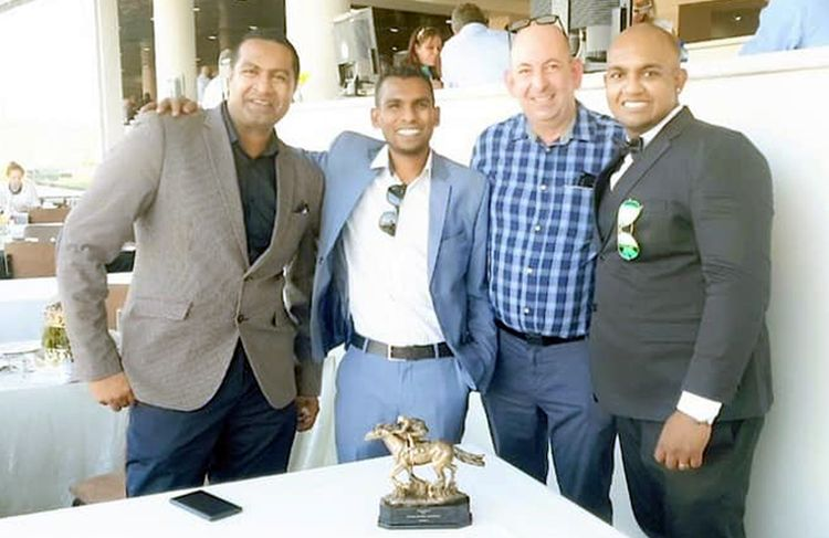 The Nourbese partners: Corne with Keegan Govender, Pramalan 'Marlan' Chetty and Dhiresh Dasrath.